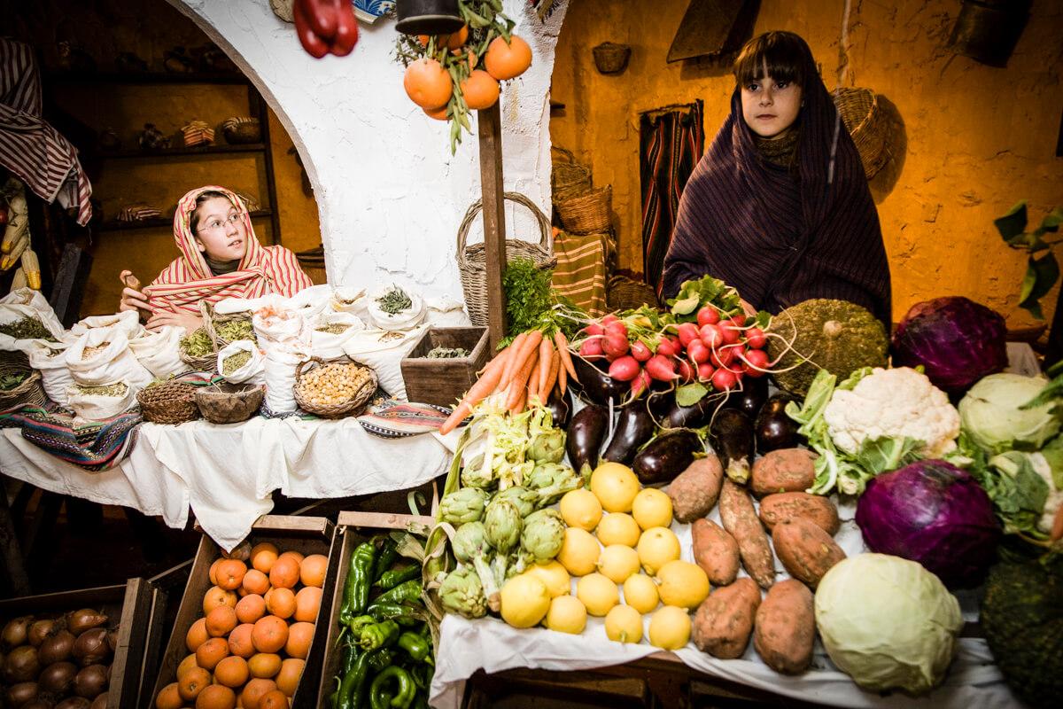 Belen viviente de Beas - mercado