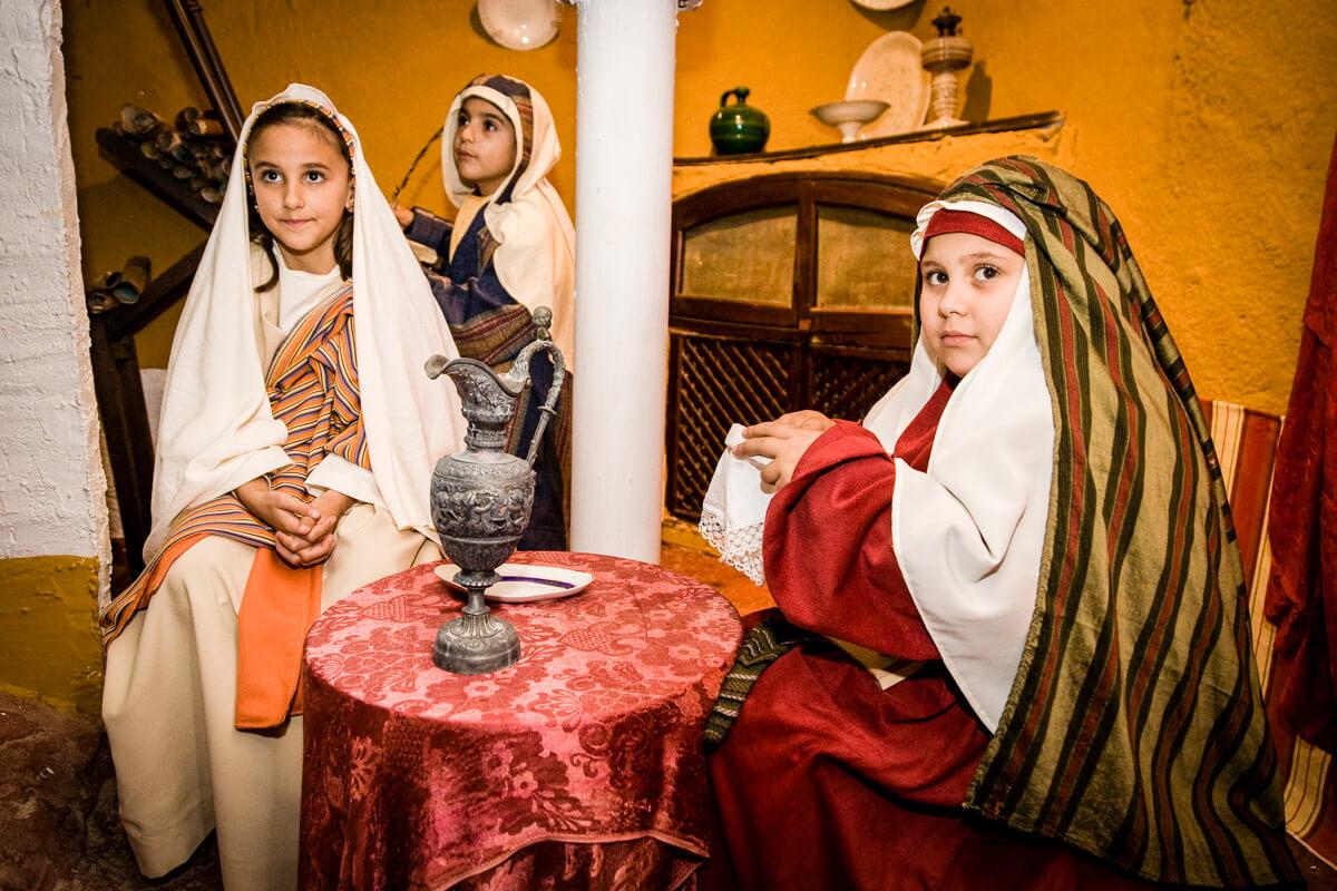 Belén viviente de Beas - visita a Isabel