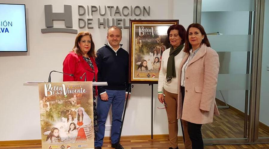 Presentación del cartel de la 49 Edición del Belén Viviente de Beas en la Diputación de Huelva