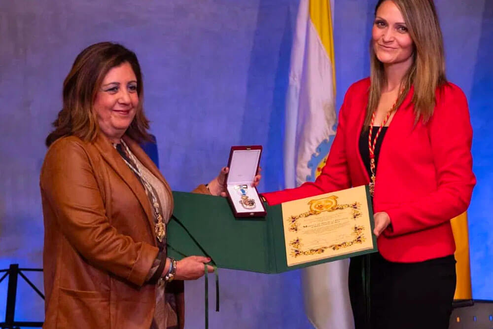 Acto de entrega de la Medalla de Oro al Belén Viviente